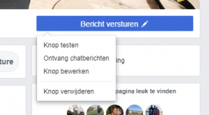 Facebook call-to-action knop